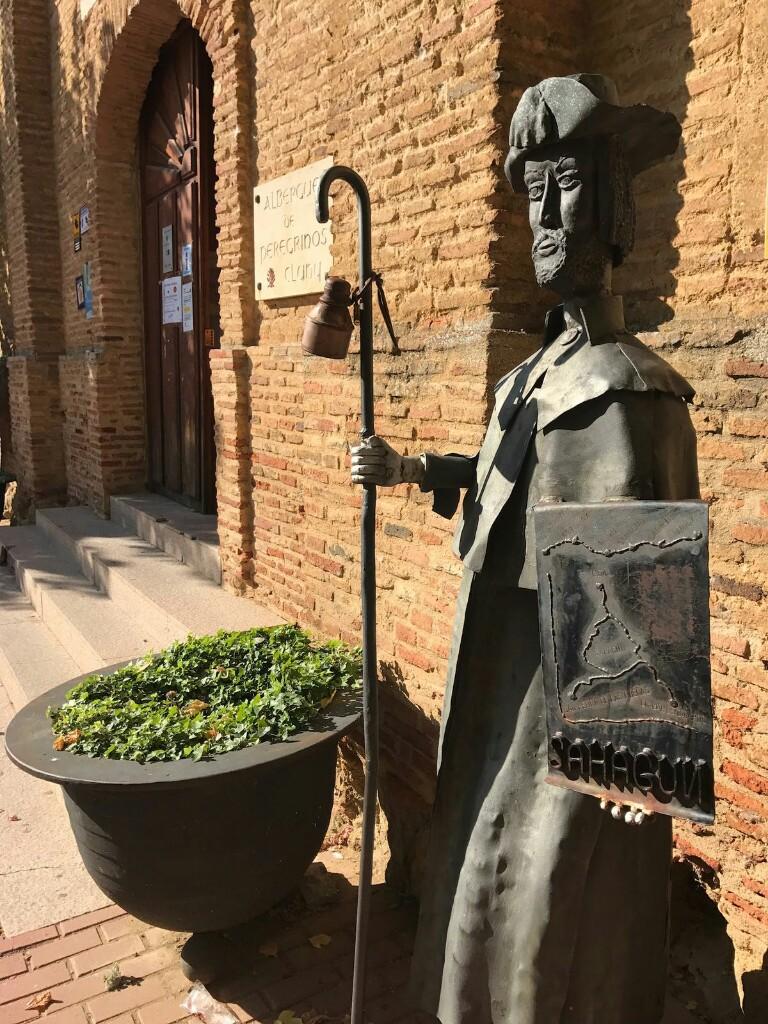 Pilgrim statue in Sahagun number 1