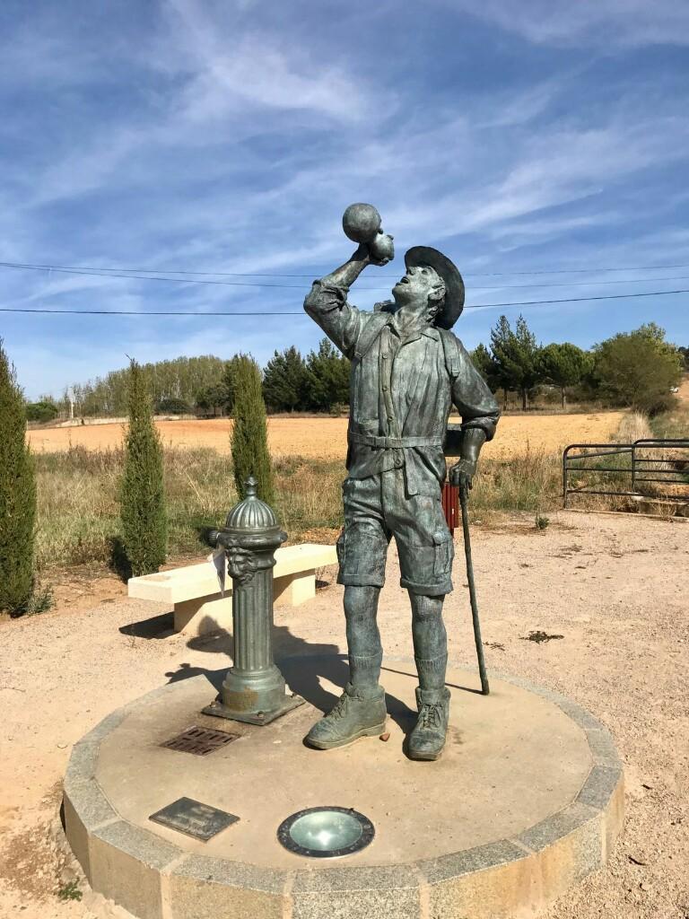 Pilgrim statue in San justo de la vega
