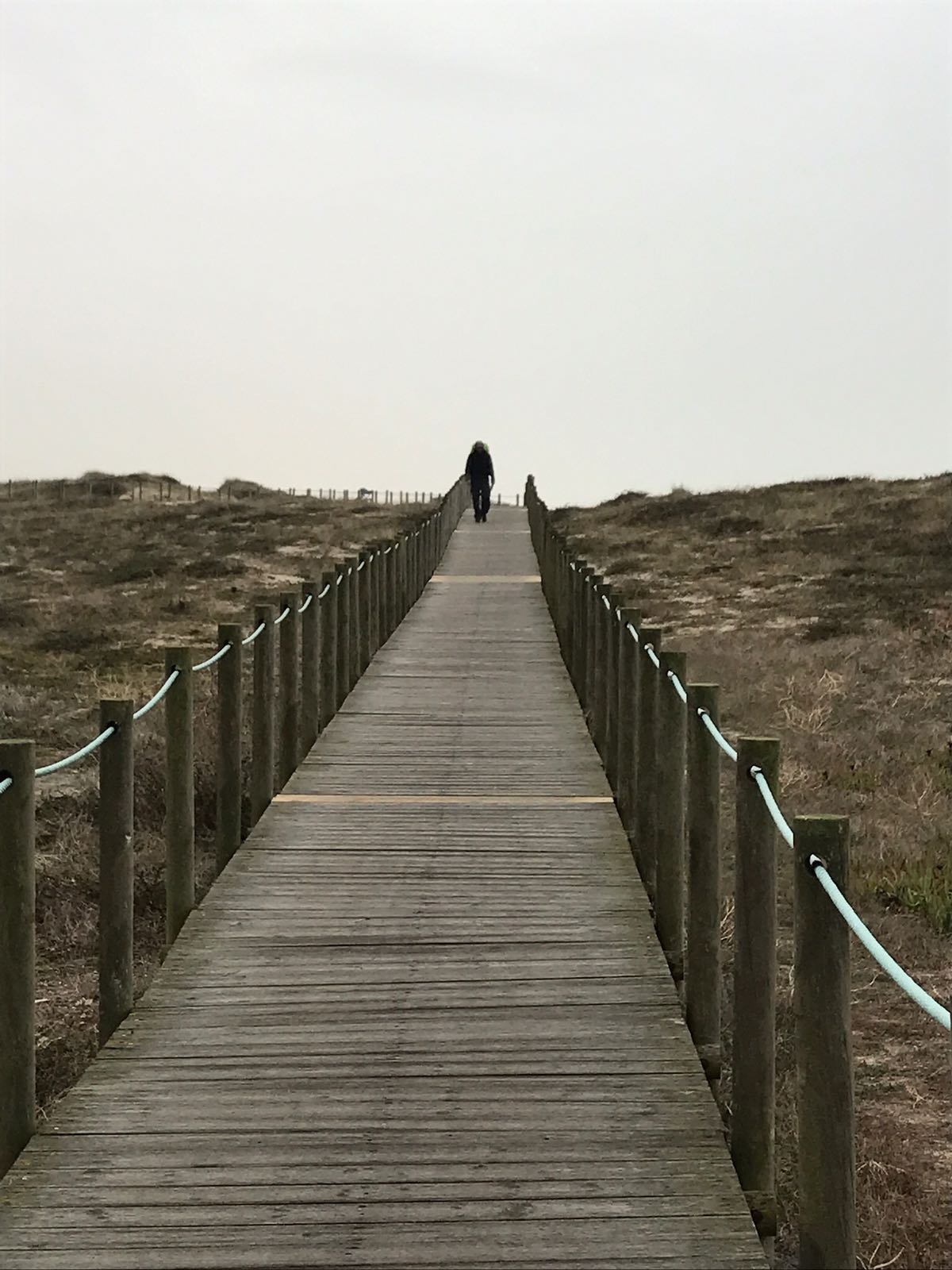 The boardwalk on the west coast going south to Porto