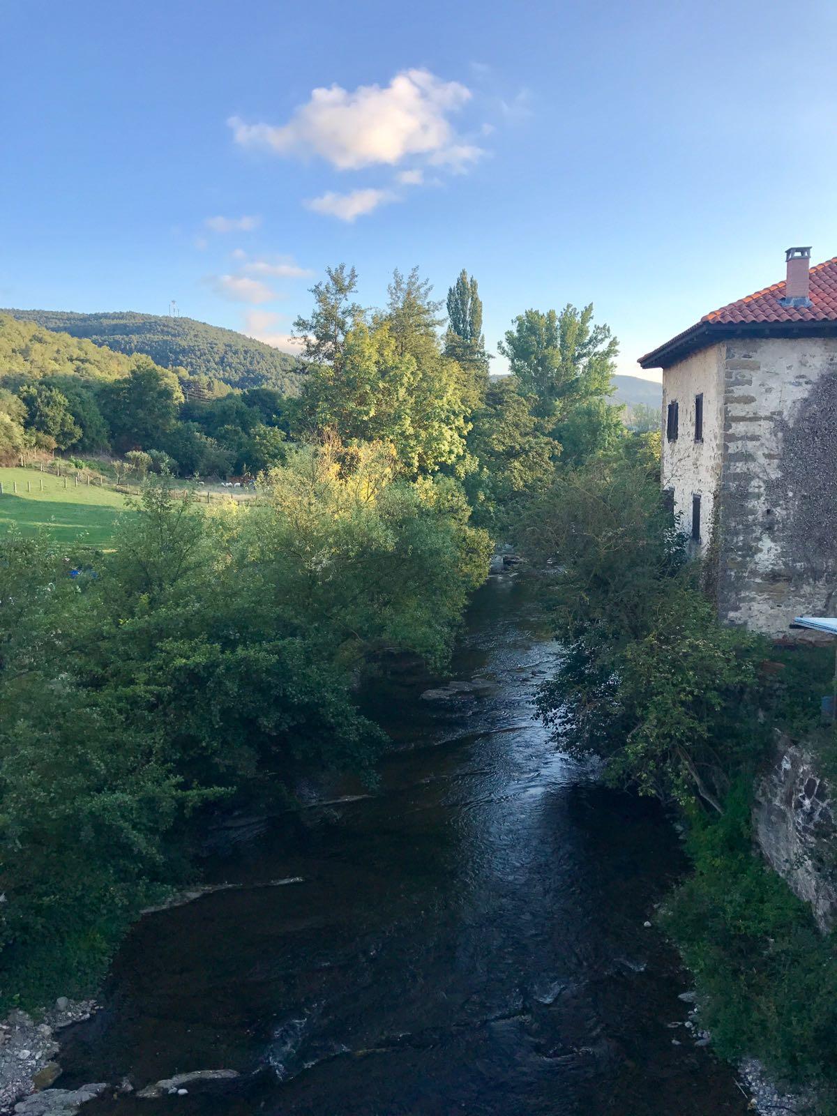 The river Arga passing alongside the town of Zubiri
