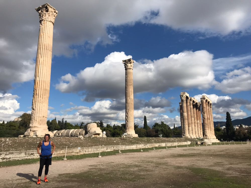 Roz at the temple of the Olympian Zeus