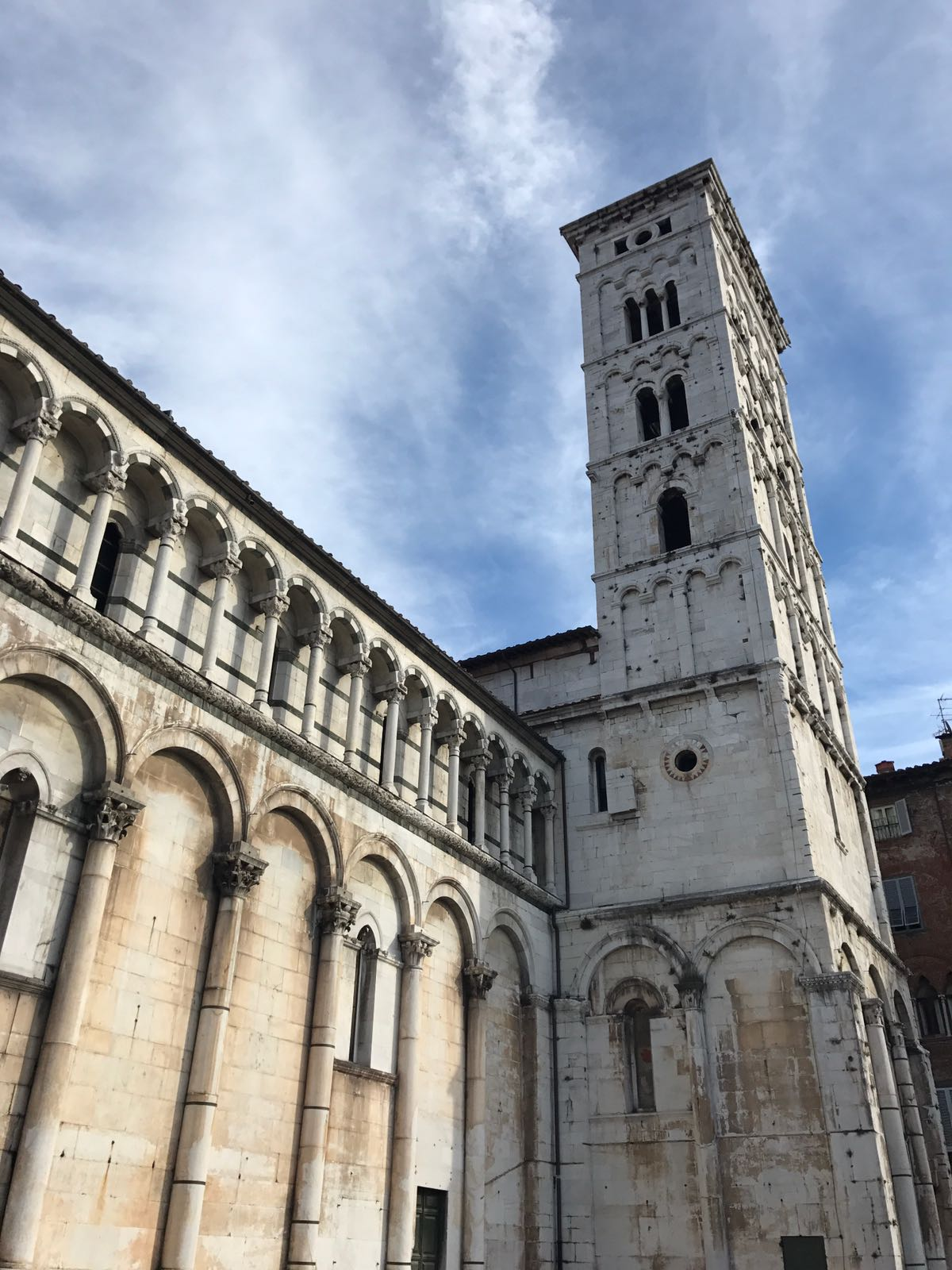 The tower of San Michele in Foro church in Lucca