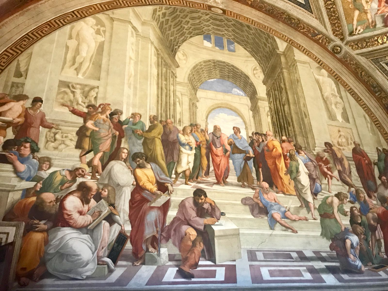 Raphael's 'The school of Athens' fresco from inside the Vatican