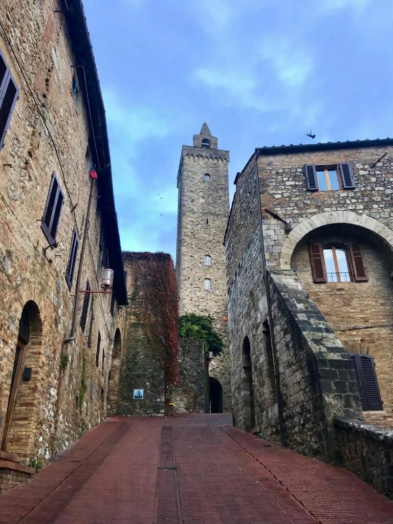 Sloped street in San Gimignano