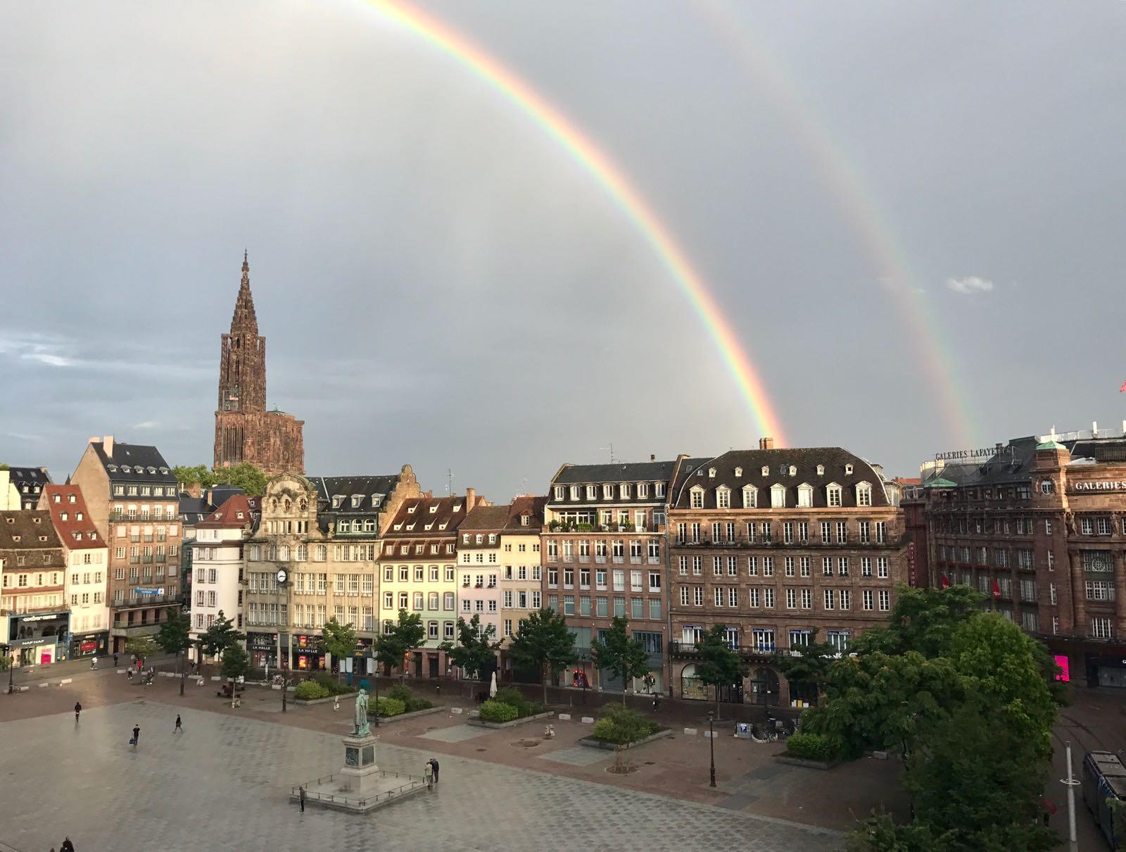 Double rainbow over Strasbourg