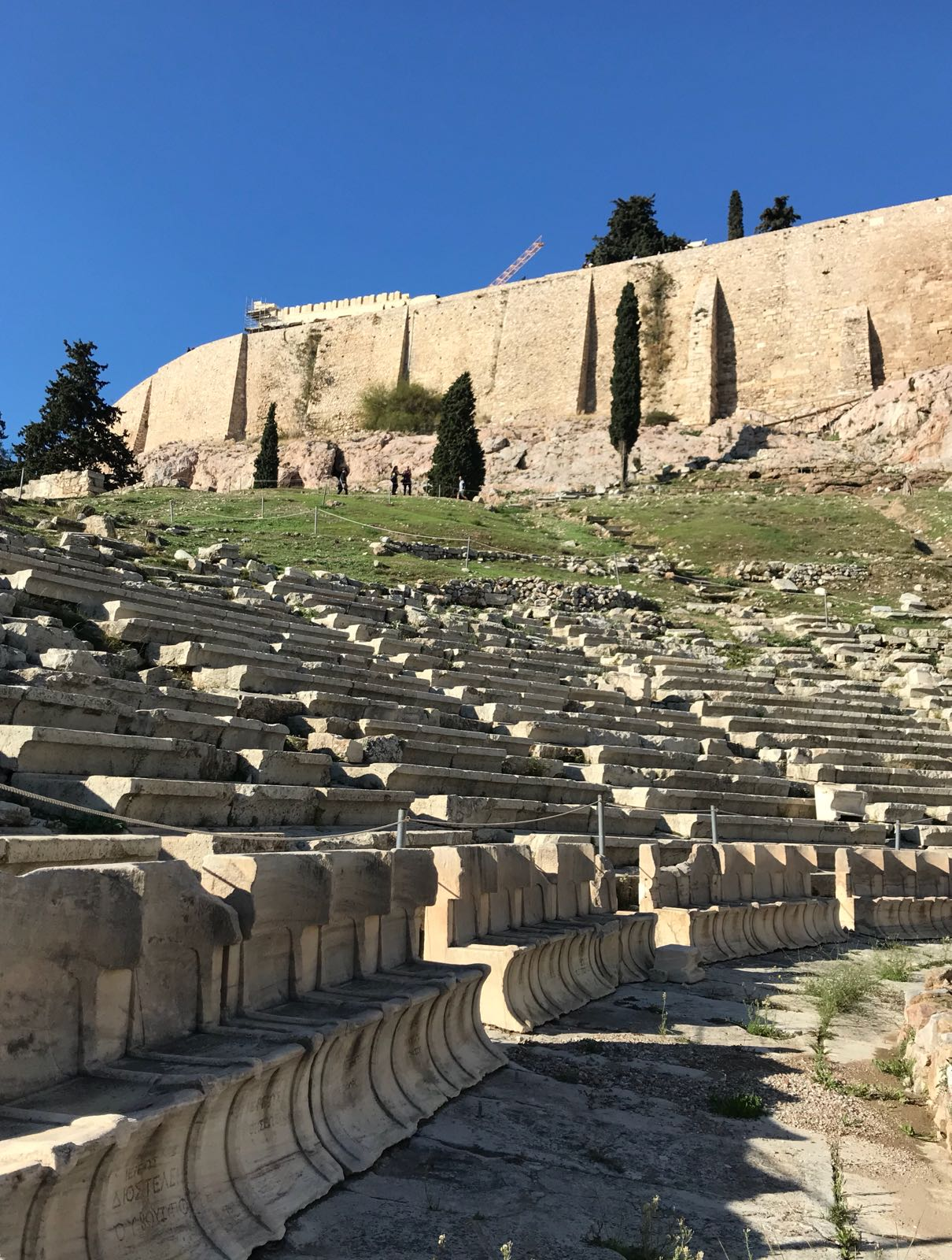 The theatre of Dionysus from the stage level in the Acropolis