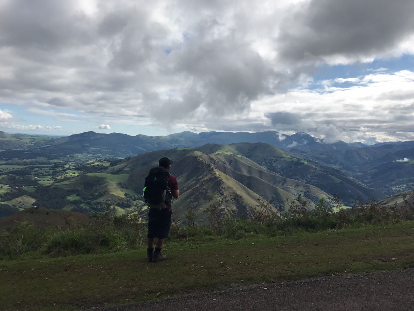 Tom looking over the hills in the valley