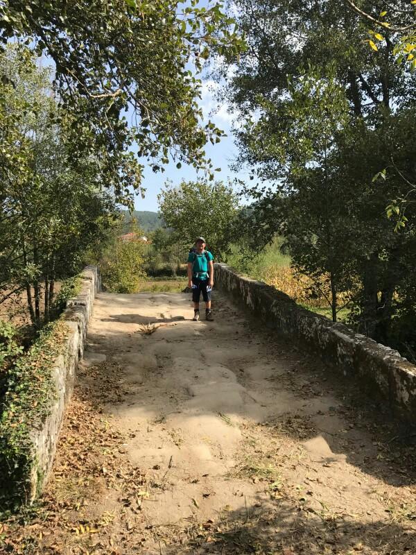 Tom on a roman bridge near Rubiaes