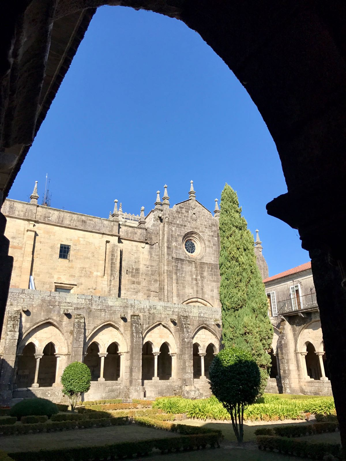 View of the cloister of Tui cathedral