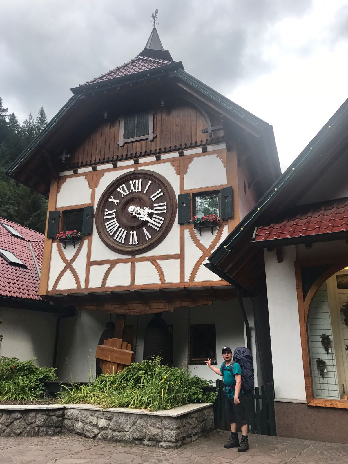 Cuckoo clock the size of a house