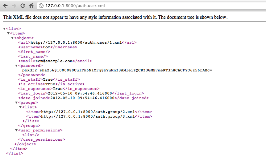 XML API