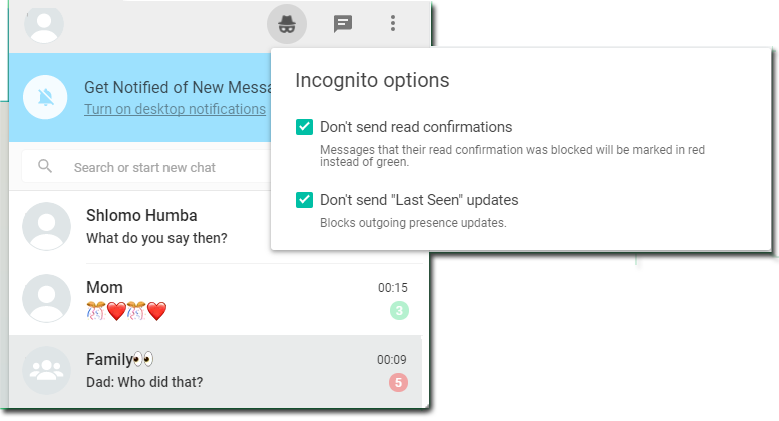 GitHub - tomer8007/whatsapp-web-incognito: A chrome extension that
