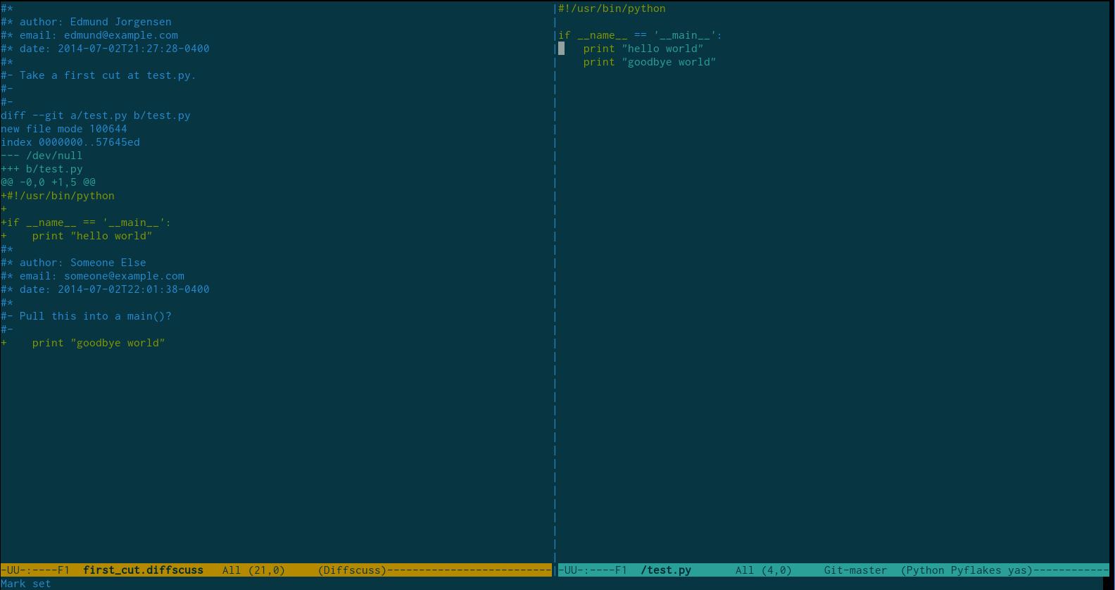 Emacs Screenshot