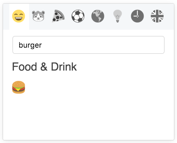 Emoji Picker with Search