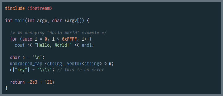 screenshot ASCII