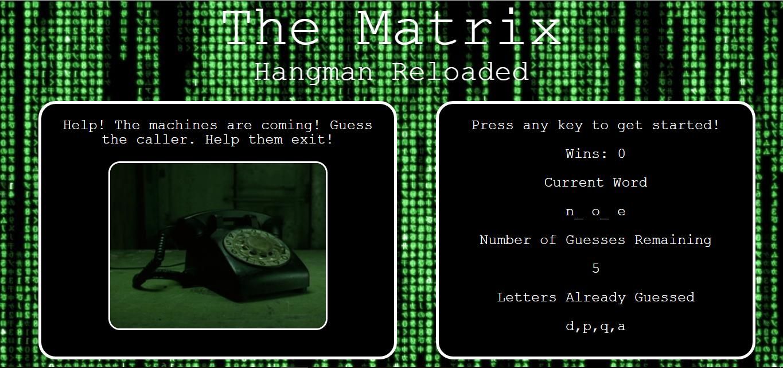 Matrix Hangman Game