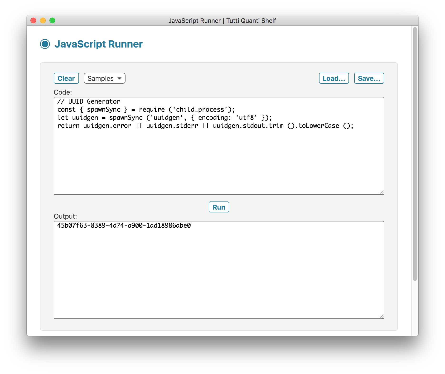 JavaScript Runner screenshot