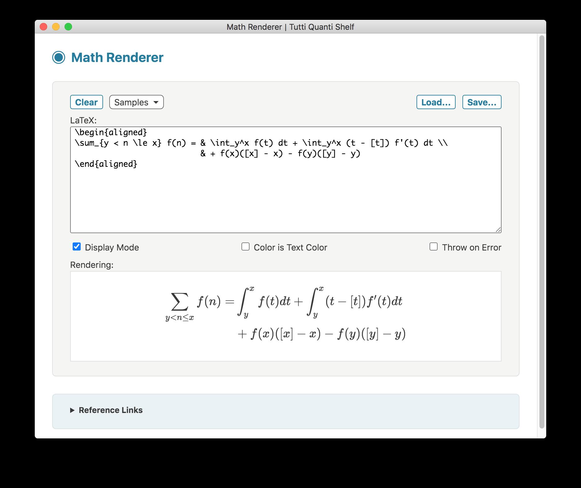 Math Renderer screenshot