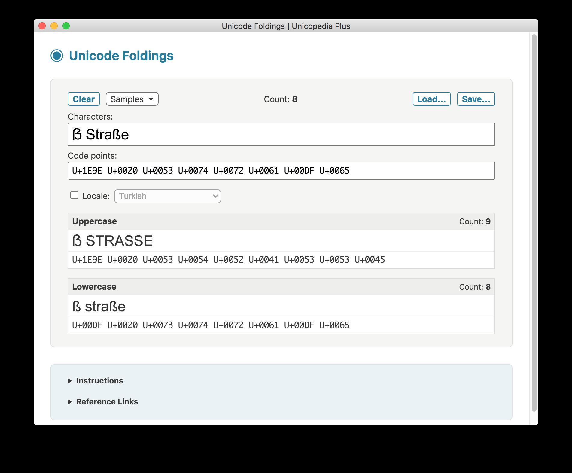 Unicode Foldings screenshot