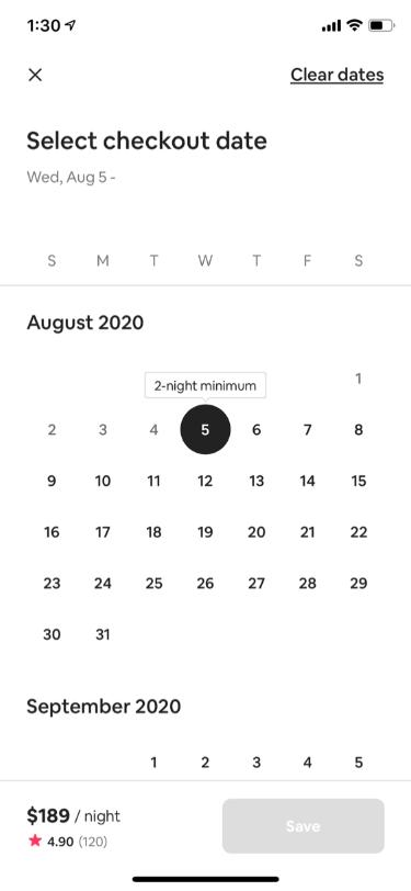 Stay Availability Calendar