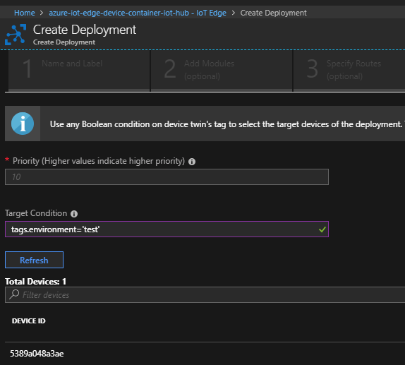 Edge Deployment Configuration