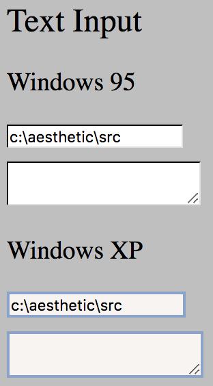 Text Input Example