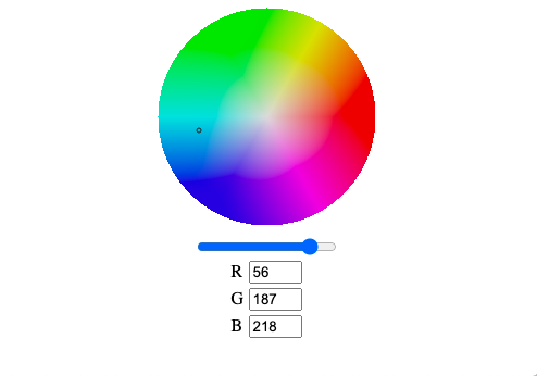 Color picker example