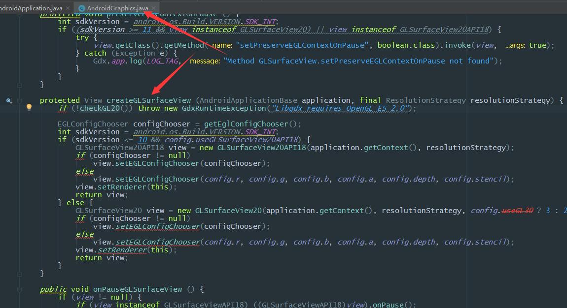 Libgdx实现和原生view进行层级透明叠加,修改GLSurfaceView为