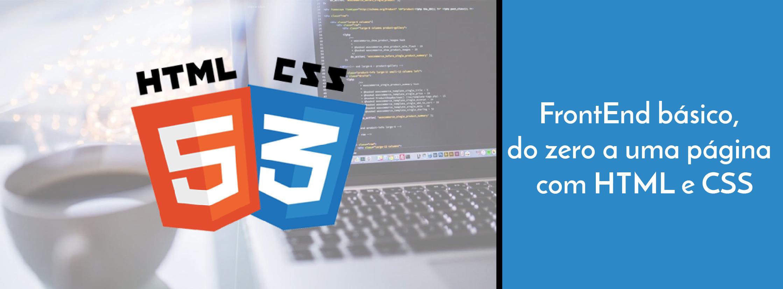 Imagem do Curso FrontEnd básico, do zero a uma página com HTML e CSS