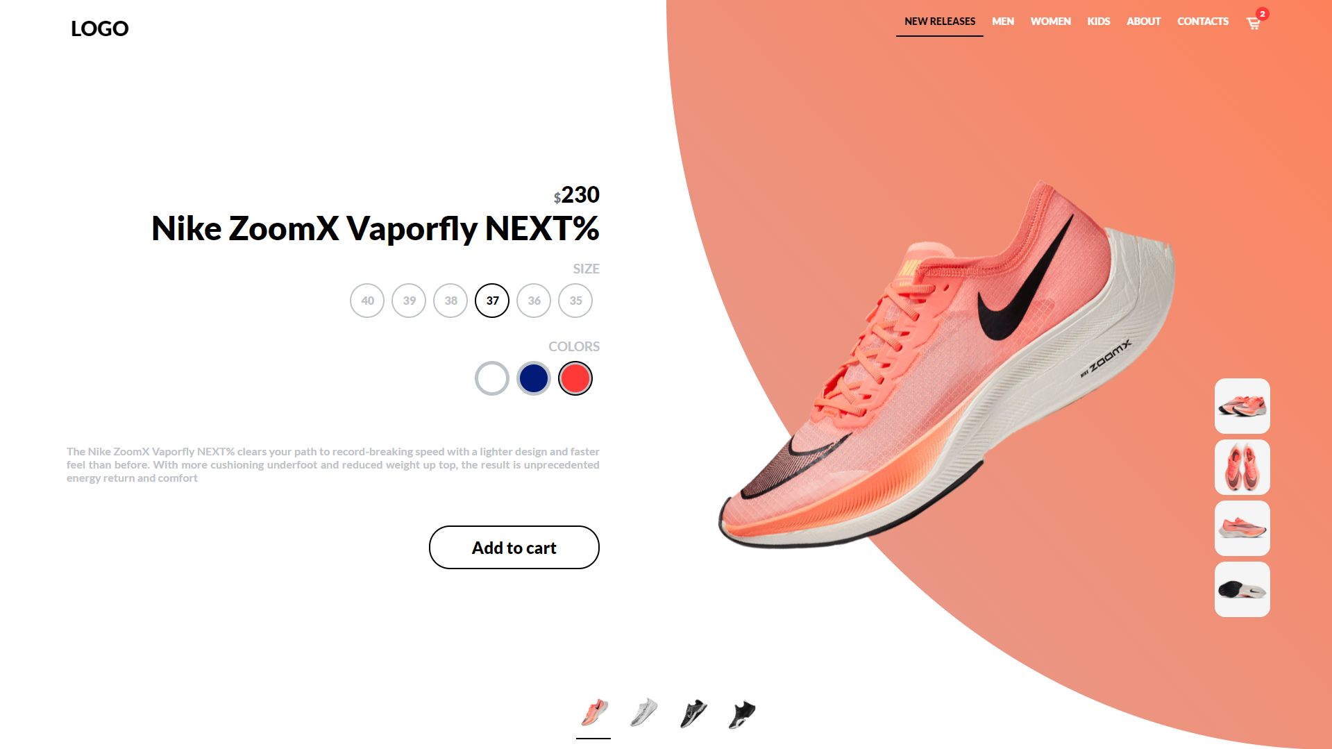 mostrar Persona enferma Divertidísimo  Make Animated Nike Shoes Landing Page with only HTML, CSS & pure JS