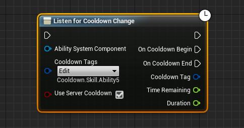 Listen for Cooldown Change BP Node