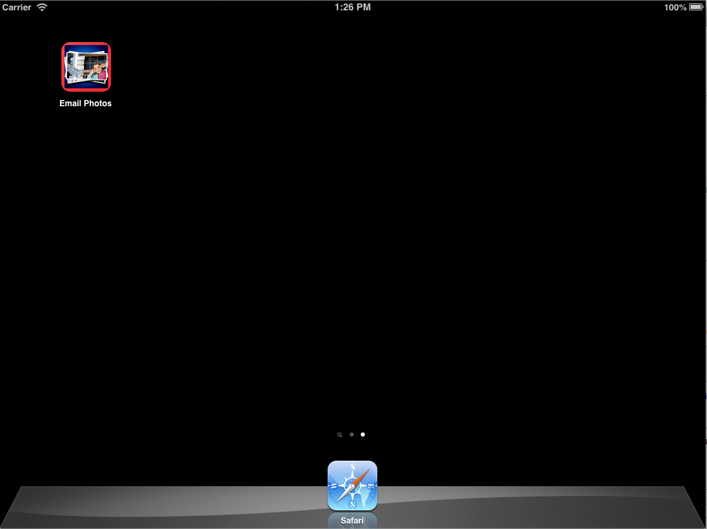 ipad home screen showing the application icon