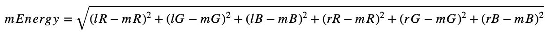 Pixel energy formula