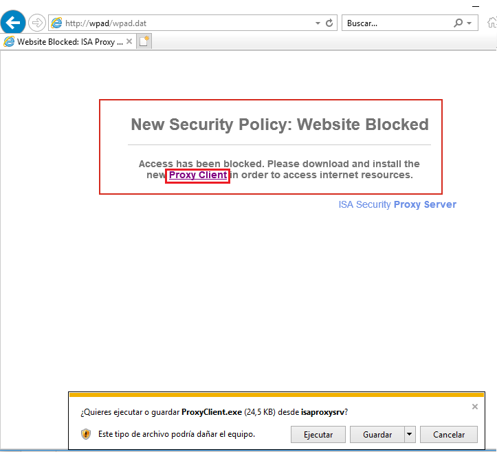 Windows - WPAD poisoning using Responder