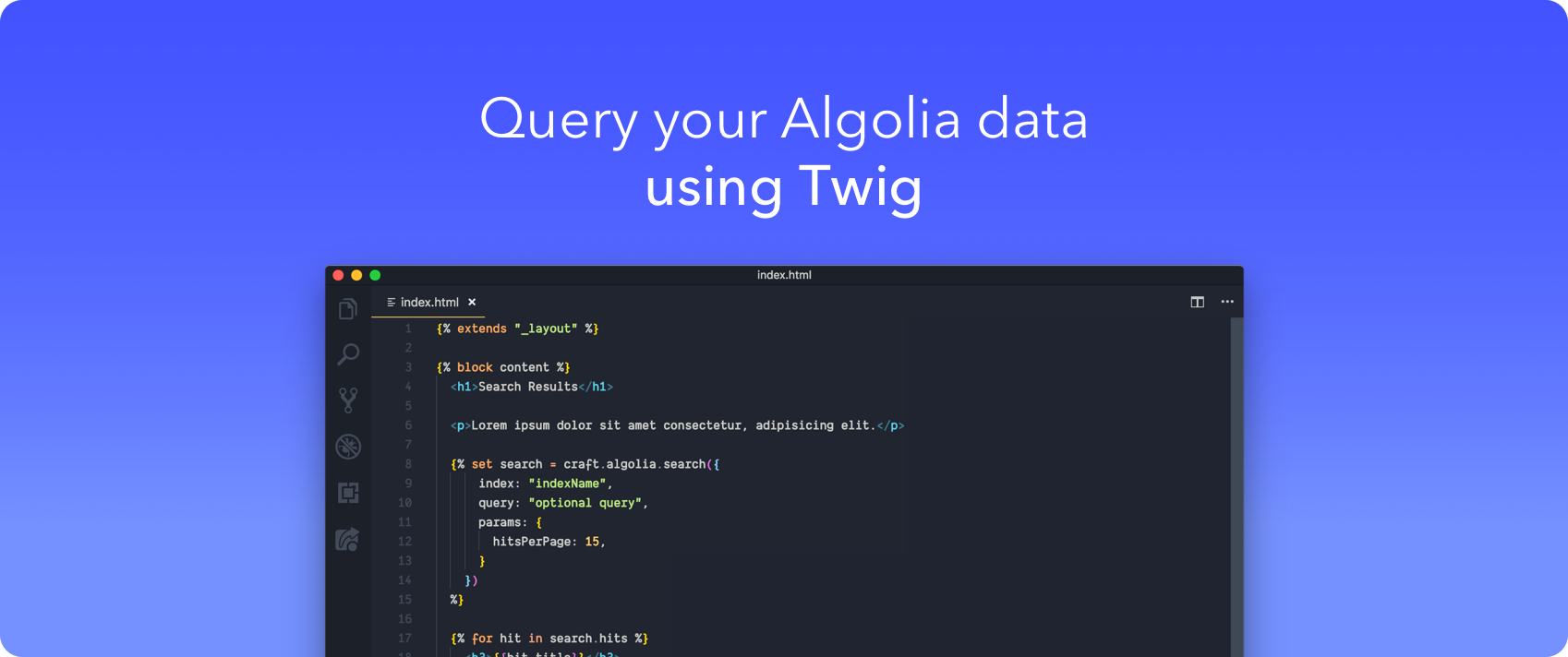 Query your Algolia data using Twig