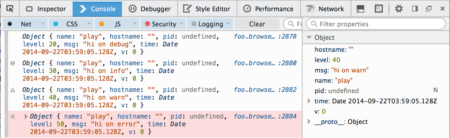 Bunyan + Browserify in theFirefox console