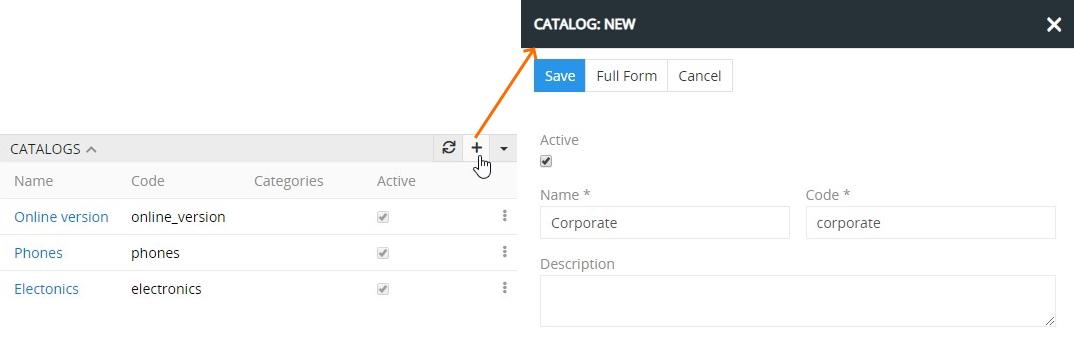 Creating category catalog
