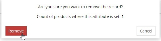 Removal confirmation