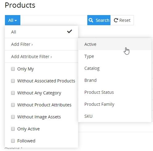 Filters list