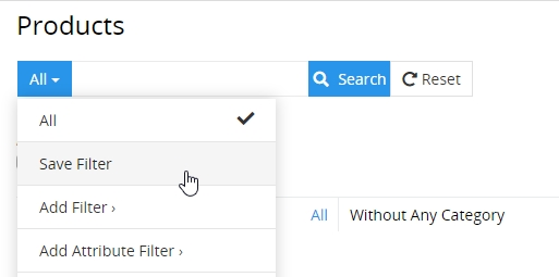 Save filter option