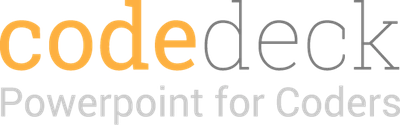 Code Deck - Powerpoint for Coders