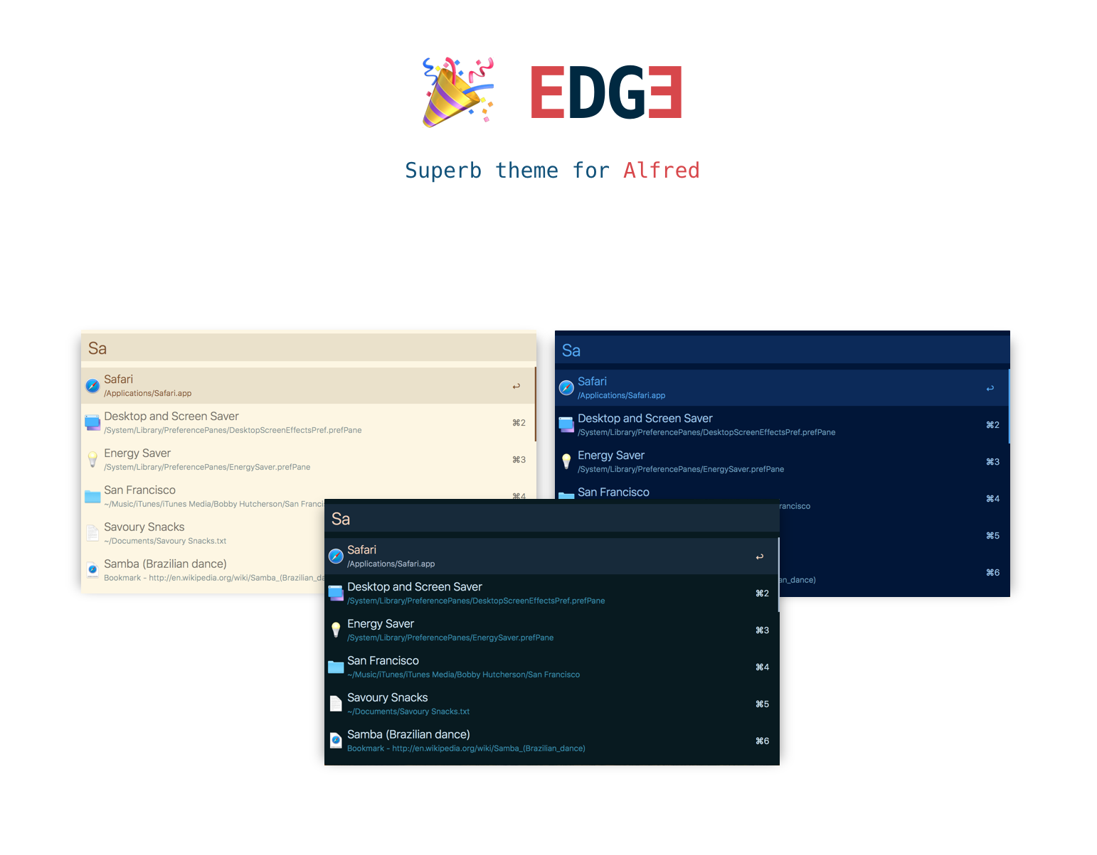 Edge Theme Preview Banner