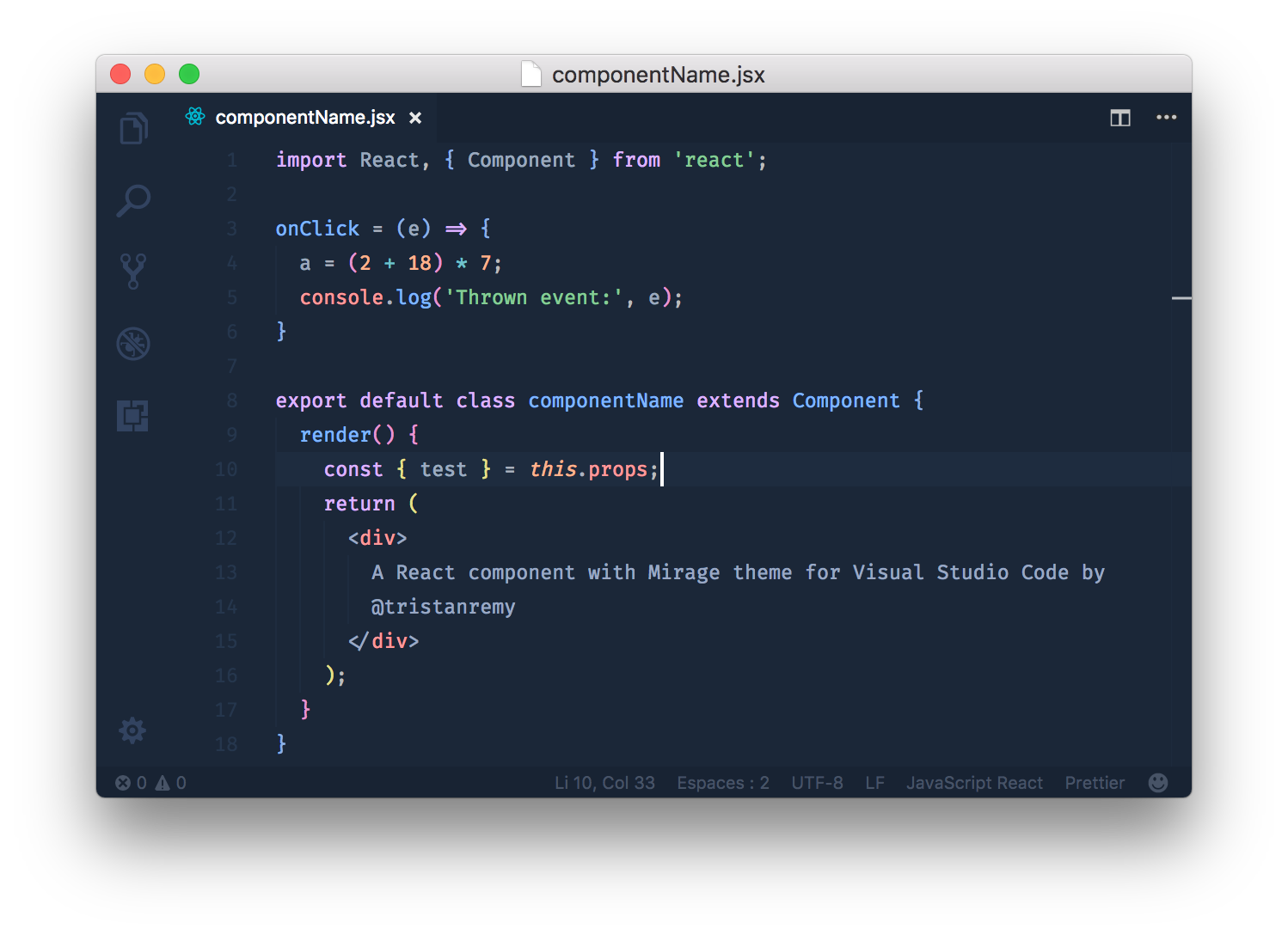 React Code Screenshot