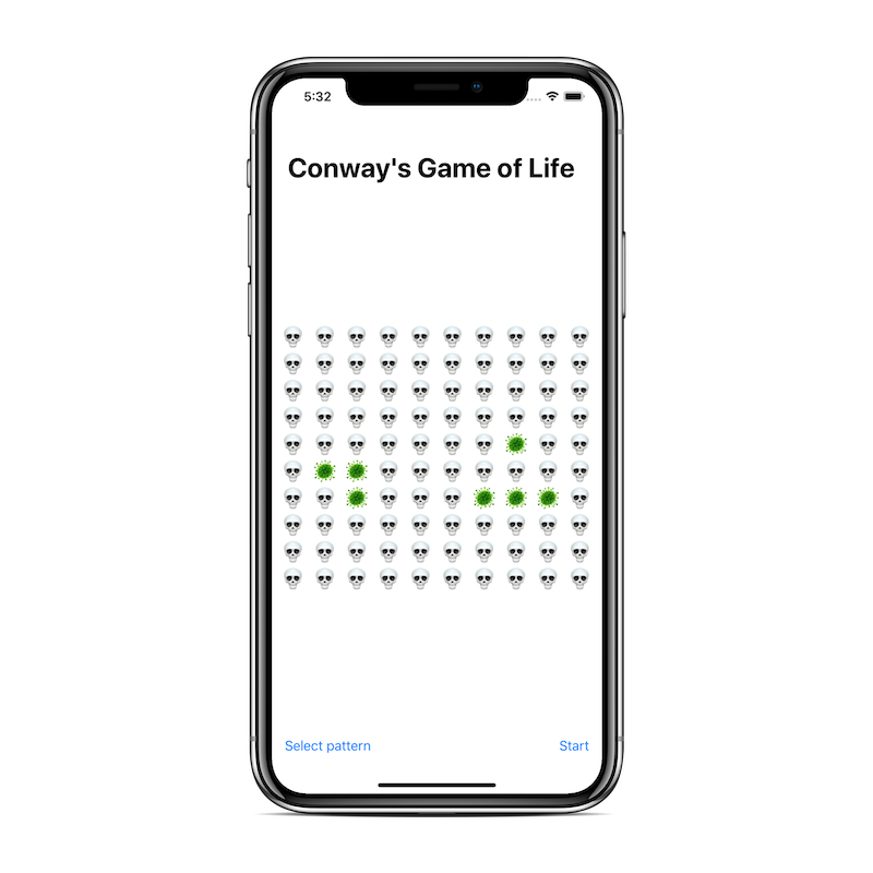 Conway's Game of Life visualization using SwiftUI