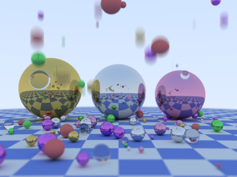 Ray traced spheres