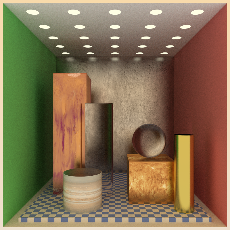 Assorted ray traced objects