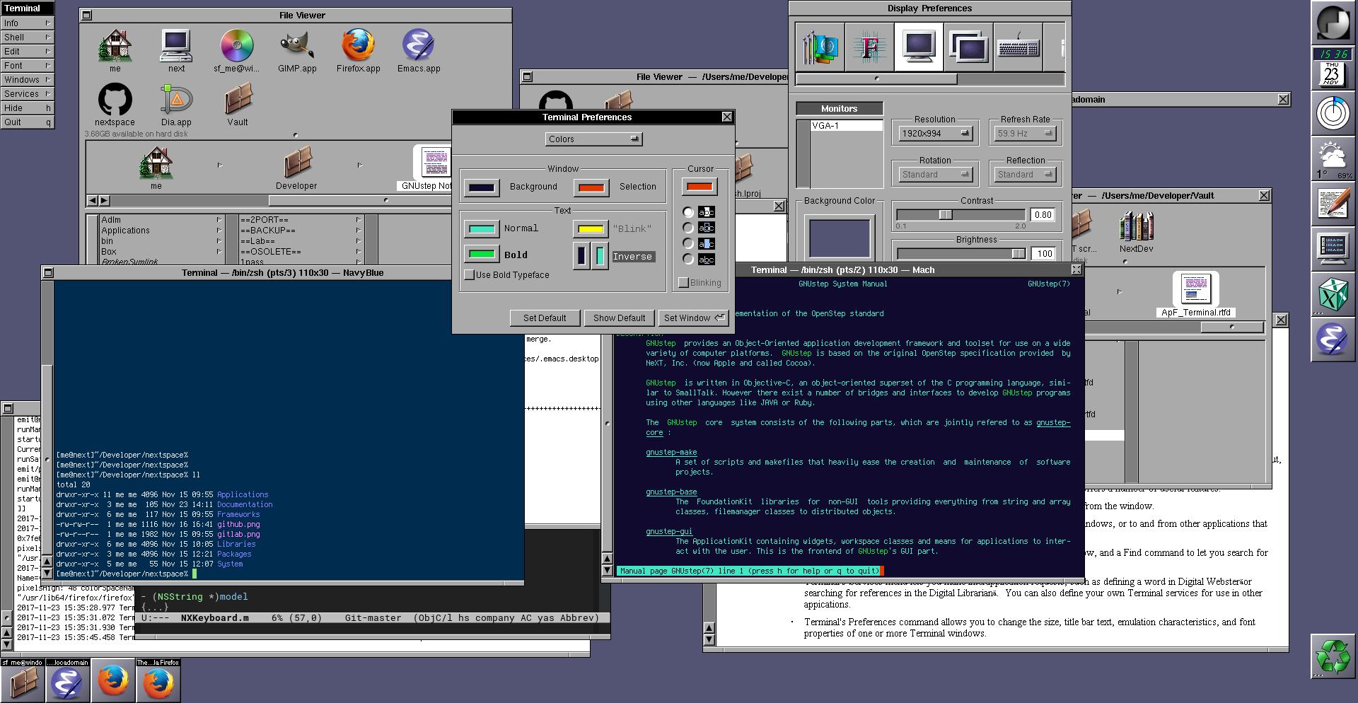 Hexbyte  Hacker News  Computers NEXTSPACE example