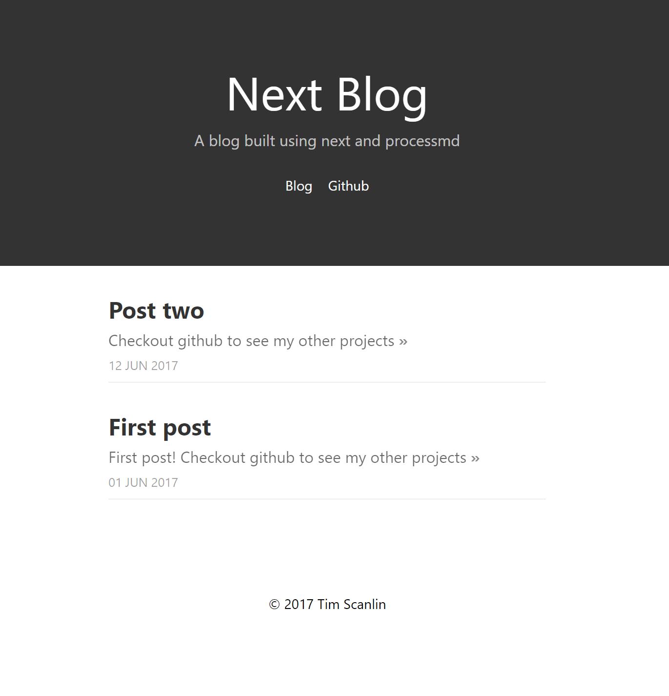 next blog screenshot