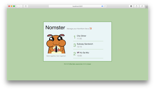 Nomster Web