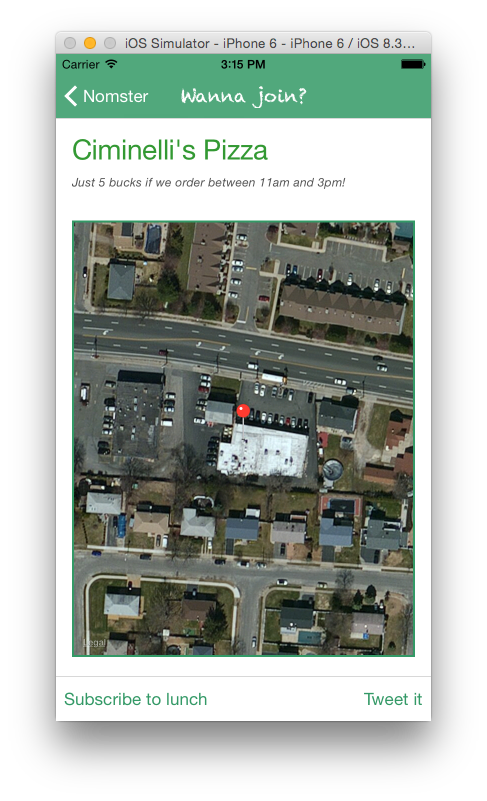 Mobile UI Detail view